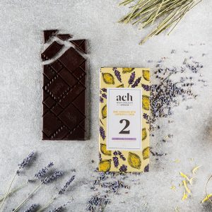 Dark chocolate with lemon and lavender